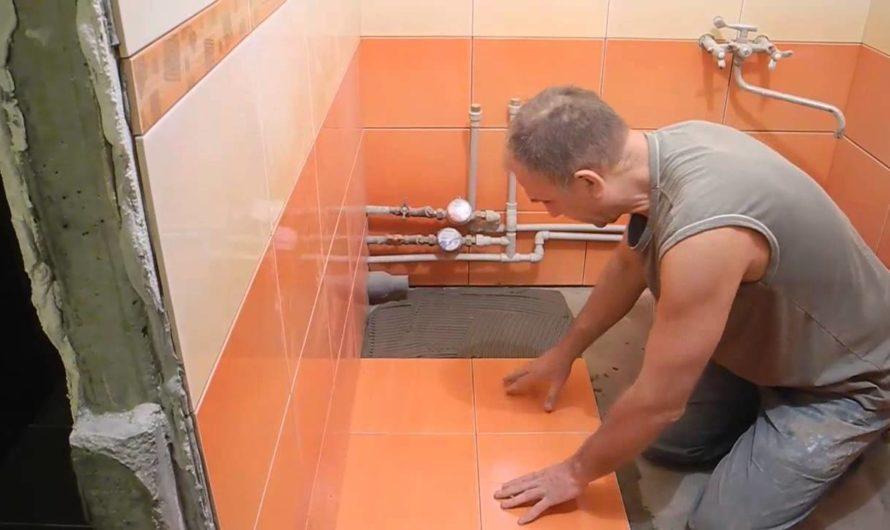 Как класть плитку на пол в ванной своими руками: видео укладки, как положить плитку на пол в ванной