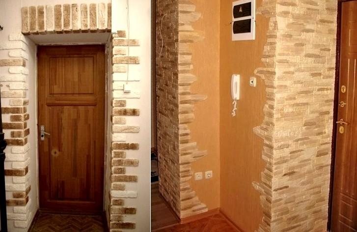 Как оформить дверной проем декоративным камнем